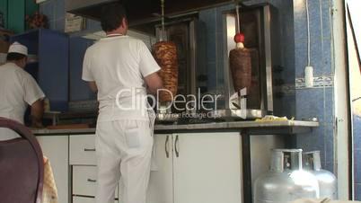 Turkish kebab shop