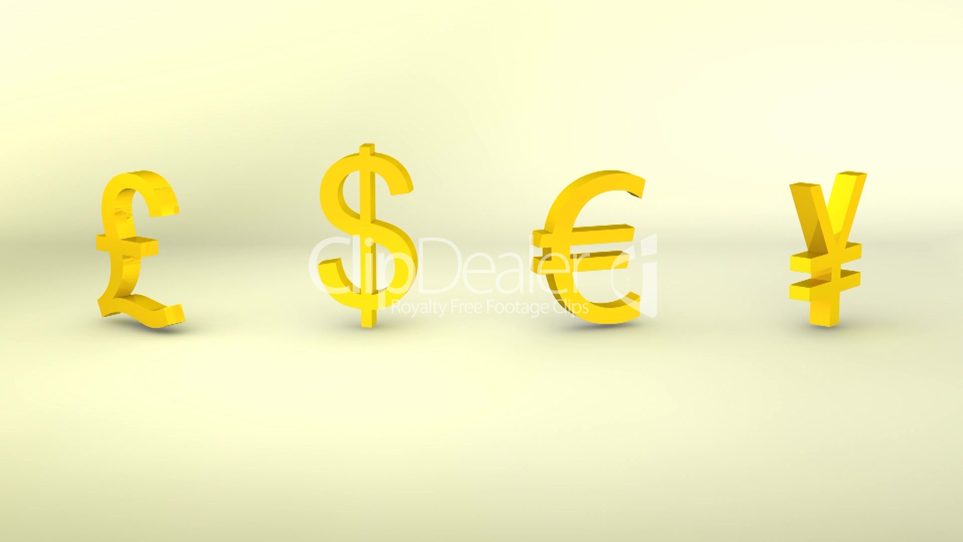 3d Rotating Gold Currency Symbols Loopable Royalty Free Video And