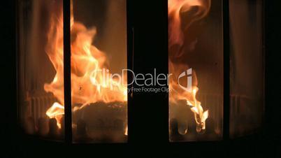 Feuer in einem Kamin