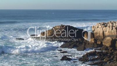 Agitated sea waves