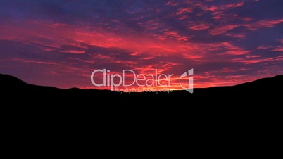 Sonnenuntergang Zeitraffer