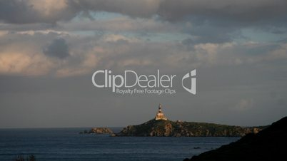 Lighthouse in Sardinia, Time lapse.