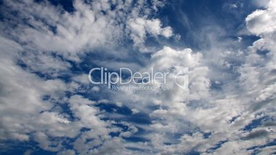Blue sky timelapse.