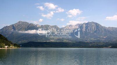 Mountain lake. Time lapse.