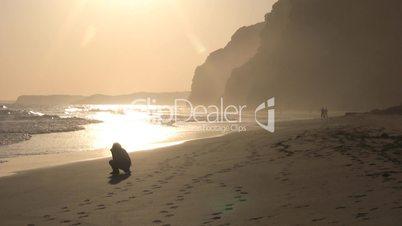 Fotografin am Strand