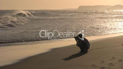 Fotografin am Meer