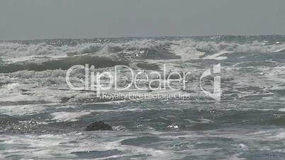 Sea waves in the beach