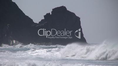 Wellen an der Atlantikküste