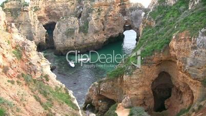 Felsformationen an der Algarve