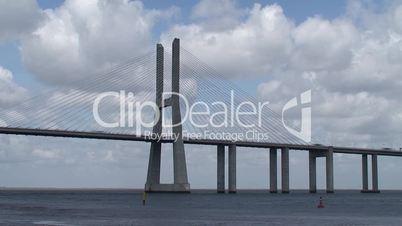 Time lapse of large bridge