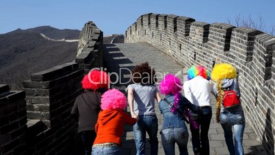 Funny clowns on Great Wall