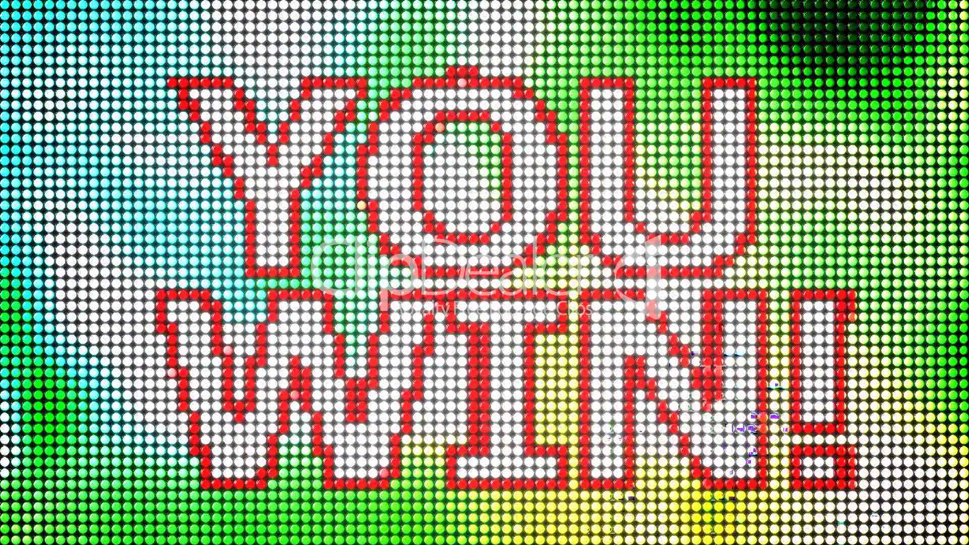 Quot You Win Quot Led Screen Loop Royalty Free Video And Stock