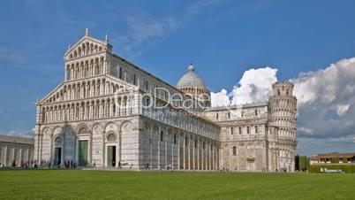 Pisa, Piazza in Zeitraffer