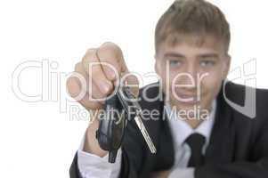 teenager offering bunch of car keys