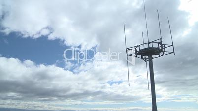 Cell tower and time lapse clouds