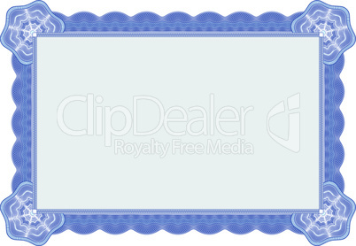 Guilloche certificate