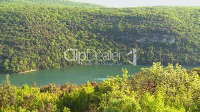 Limski kanal in Kroatien, ruhiger Schwenk