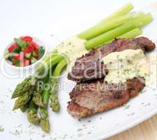 fleisch mit spargel