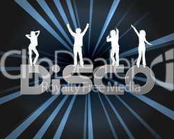DISCO Hintergrund mit Silhouetten