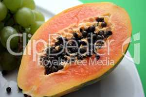 Frische Papaya