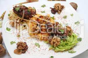 fleisch und pasta