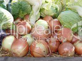 Gemüse auf einem Markt