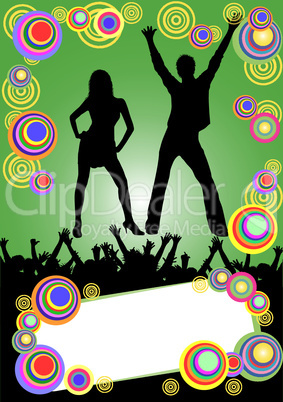 party plakat illustration