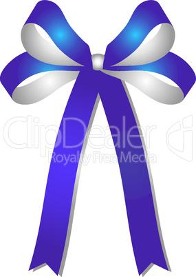 blau - silberne schleife