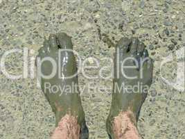 Füße nach einer Wattwanderung
