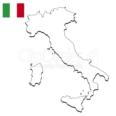 Landkarte Italien Royalty Free Images Photos And Pictures