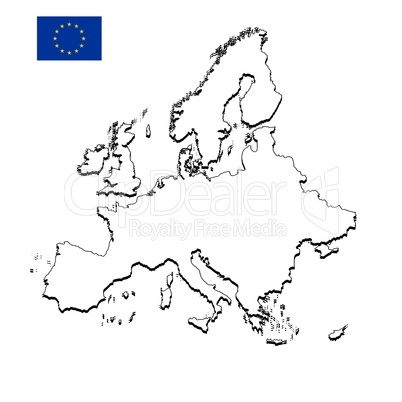 Karte Europa Schwarz Weiss.Landkarte Europa Royalty Free Images Photos And Pictures