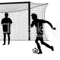 Silhouette Fussball
