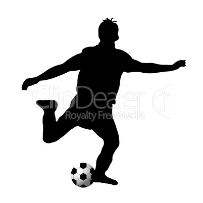 Silhouette Fussball Royalty Free Images Photos And Pictures