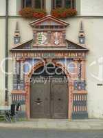 Tür am Rathaus in Naumburg