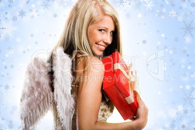 Weihnachtsengel mit Geschenk 4