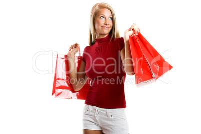 Frau mit Einkaufstüten 2
