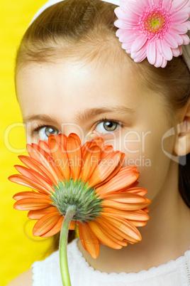 Mädchen mit Blume 3