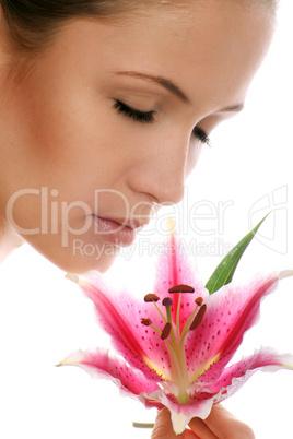 Frau mit Blüte 4
