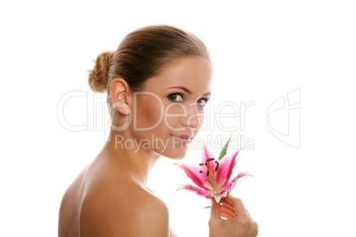 Frau mit Blüte 6