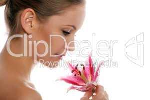 Frau mit Blüte 7