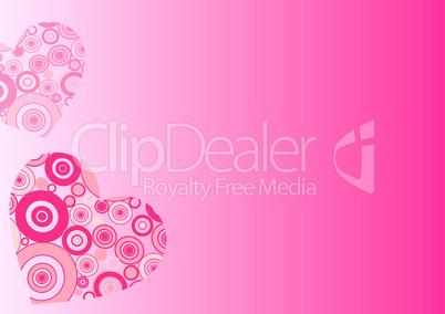 Circle hearts pink