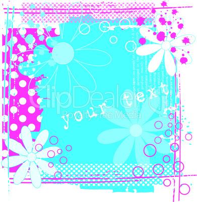 grungeflower pink