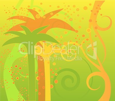 palm tree vector 5