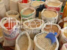 Säcke mit Getreide