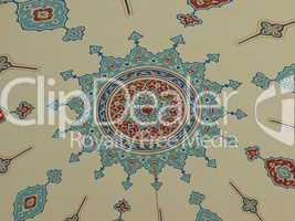 Deckengemälde an der Moschee in Manavgat