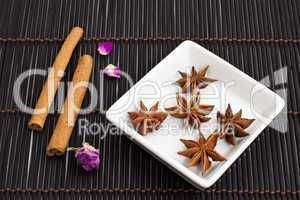 Sternanis und Zimtstangen, star anise and cinnamon sticks