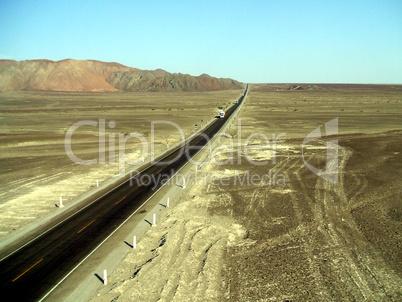 Panamericana in Wüste