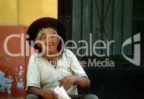 Alter Mann, Südamerika