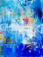 blue abstract pained background