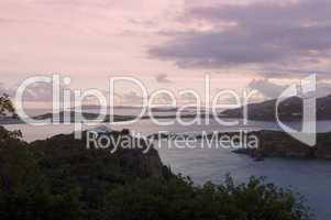 British Virgin Islands sundown